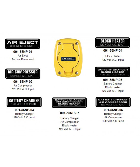 Nameplates for 091-55XX Weatherproof Covers