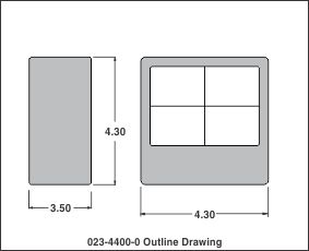 outline drawing 023-4400-0