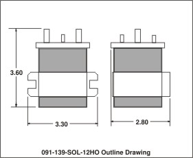 outline drawing 091-139-sol-12ho