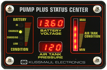 Auto Pump Status Center, Voltage and Pressure 091-198-12-VP