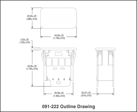 091-222 outline drawing