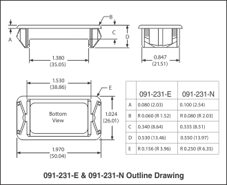 Outline Drawing 091-231-E