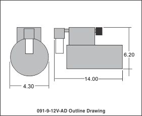 outline drawing 091-9-12v-ad