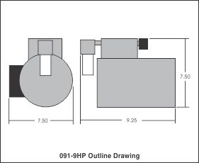 outline drawing 091-9hp
